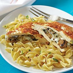 Mushroom-Stuffed Chicken | MyRecipes.com