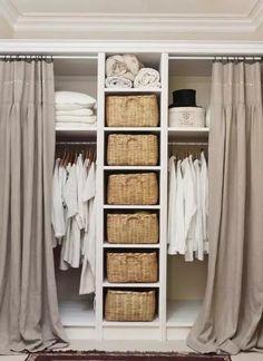 Clothes Closet Doors - 73 Useful Walk in Closet Design Ideas for Every Woman Organizing Clothing & Accessories. Small Closet Design, Walk In Closet Small, Custom Closet Design, Small Closets, Closet Designs, Diy Wardrobe, Wardrobe Storage, Bedroom Wardrobe, Small Wardrobe