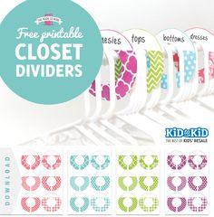 closet dividers printable closet dividers divider and nursery. Black Bedroom Furniture Sets. Home Design Ideas
