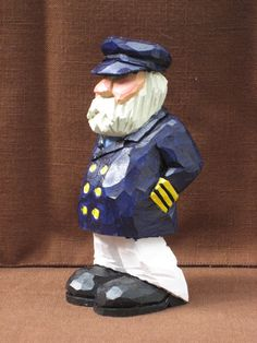Hand Carved Old Salty Sea Captain $35.00, via Etsy - SOLD