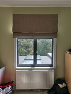 Made to measure roman blind from our Woven Range in Sparrow colour Bedroom Blinds, Bedroom Windows, Fabric Blinds, Curtains, Blinds Inspiration, Made To Measure Blinds, Brighton And Hove, Roman Blinds, Hotel S