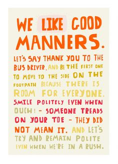 Good Manners i