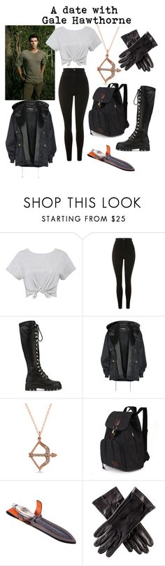 """""""a date with gale hawthorne"""" by evelyn-waters ❤ liked on Polyvore featuring Topshop, Altuzarra, Balmain, Allurez and Black"""
