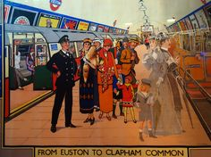 Underground poster in The London Transport Museum, Covent Garden.