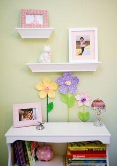 Custom fabric flower garden for girls room. by leilasflowergarden