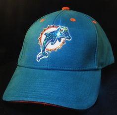 Miami Dolphins Swarovski Crystal Rhinestone Bling Hat www.babywantsbling.com