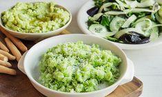 Kokken Helene Baaserud ville aldri drømme om å kaste brokkolistilken. Her er tre ting du kan lage av den fabelaktige brokkolistilken! Risotto, Ethnic Recipes, Food, Essen, Meals, Yemek, Eten
