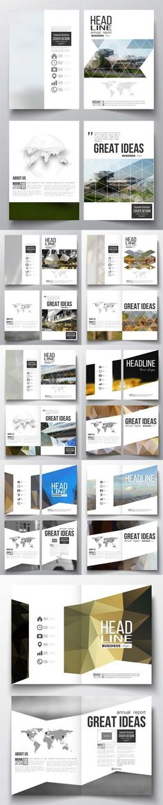 Vector Business Templates for Brochure Magazine Booklet 3