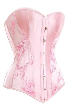 Free Ship!So Darling Pink Sexy Corset Bustier Garter & Bottom Lingerie