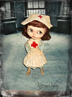 Blythe 1900s Red Cross Nurse 3 Piece Outfit By by KarynRuby