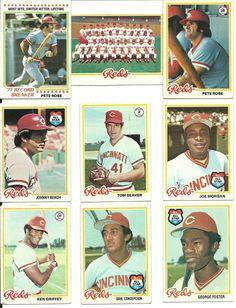 1978 VINTAGE Topps REDS Team set 30 cards BENCH SEAVER 2 ROSEs MORGAN PEREZ   #CincinnatiReds