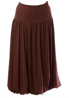 Women's Lauren Kiyomi Bubble Hem Jersey Skirt (Maternity) - More Colors Available, XS, Chocolate Lauren Kiyomi. $76.00