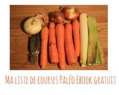 Ebook gratuit ma liste de courses Paléo pour commencer un régime Paléo. Liste d'aliments autorisés sans le cadre d'un régime Paléo