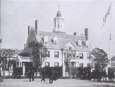 This replica of Hancock Manor, the Beacon Hill home of Declaration of Independence signer and Governor of Massachusetts, John Hancock, was built for the Chicago World's Fair in 1893 where it served as a museum.