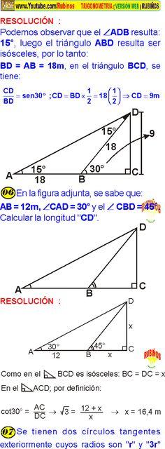 900 Ideas De Trigonometría Trigonometria Matematicas Geometría