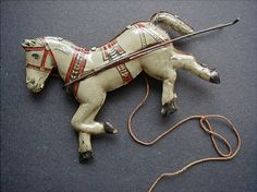 Chein Tin Litho Grocery Wagon Toy Horse by queenofsienna on Etsy, $160.00