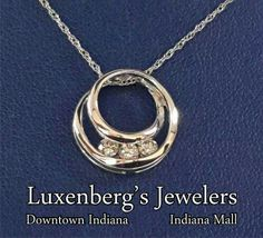 Trio of brilliance pendant.  Luxenberg's... We want to be your Jeweler!  www.luxenbergs.com