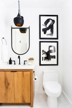 Regardless of size, a bathroom is a place to feel refreshed and inspired as you muster up the courage to greet the day and head to work. This bathroom has all the bright moves, with an optic white...