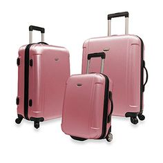 The Classic Pink Travelers Freedom 3piece Hardside Spinner Luggage Set *** This is an Amazon Affiliate link. Want to know more, click on the image.