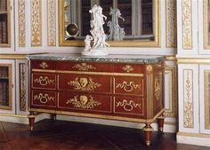 Réunion des Musées Nationaux-Grand Palais - Commodes règnes Louis XVI Benneman Guillaume (1750-1811) (d'après) Versailles, châteaux de Versailles et de Trianon