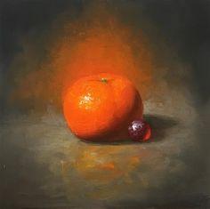 "Daily Paintworks - ""Mandarin. Oil on board."" - Original Fine Art for Sale - © Yana Golikova"