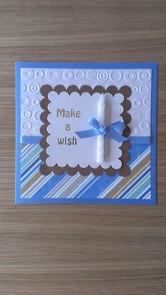 Masculine birthday card idea