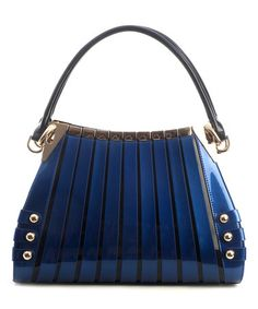 Another great find on #zulily! Blue Irina Leather Satchel #zulilyfinds