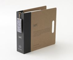 graphic design, binder, packaging