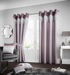 La Moda Lined Eyelet Curtains | Heather – Linens Range Fitted Bed Sheets, Linen Sheets, Grey Curtains, Lined Curtains, Curtains Living, Decorative Curtains, Blackout Curtains, White Bedding, Linen Bedding