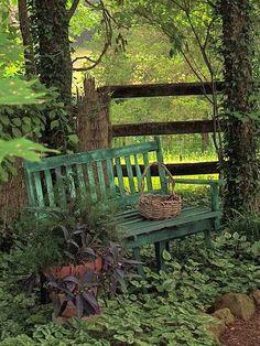 Secret garden bench.