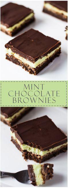 Mint Chocolate Brownies   Marsha's Baking Addiction