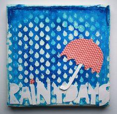 Leinwand mit Prima Schablone von Britta Häusler für www.danipeuss.de | CAR Make