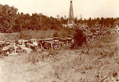 An east Texas oilfield.