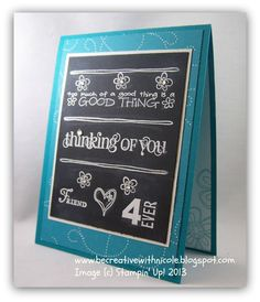 Be Creative With Nicole: More Chalkboard Technique Cards