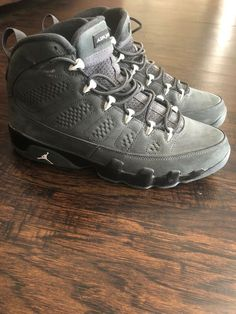 bc6ef1eb240a Nike Air Jordan 9 Retro Anthracite Size 10.5  fashion  clothing  shoes   accessories