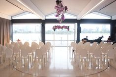 Carousel - same venue, now set up for a wedding ceremony - Flowers by The Flower Temple