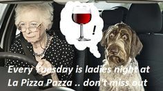 Every Tuesday is ladies night - enjoy a free glass of wine with your meal! Every Tuesday, Ladies Night, Meals, Lady, Free, Women, Wine, Girl Night, Meal