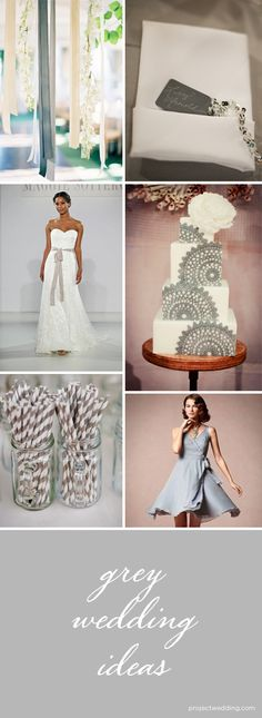 Tons of grey wedding inspiration and ideas!