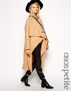 Buy ASOS PETITE Oversized Coat With Waterfall Drape at ASOS. With free delivery and return options (Ts&Cs apply), online shopping has never been so easy. Get the latest trends with ASOS now. Boyfriend Coat, Winter Trench Coat, Camel Coat, Waterfall Jacket, Warm Dresses, Asos Petite, Oversized Coat, Jackets For Women, Clothes For Women