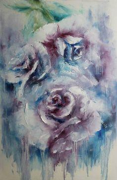 """Saatchi Art Artist Natalia Esanu; Painting, """"roses"""" #art"""