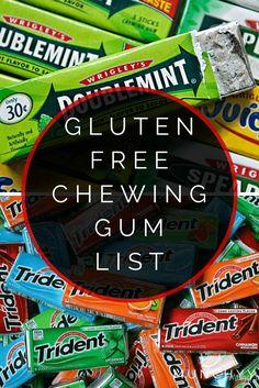Gluten Free Chewing Gum List