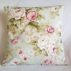 Floral country cottage cushion https://www.etsy.com/uk/listing/470602322/floral-shabby-chic-cushion-cover-country
