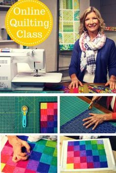 Learn quiltmaking basics in this free class, presented by Olfa. From tools and fabric to quilting and binding, find out how to create four easy quilts! Quilting Classes, Quilting Tips, Quilting Tutorials, Machine Quilting, Quilting Projects, Sewing Projects, Sewing Ideas, Patchwork Tutorial, Homemade Quilts