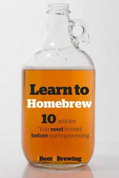 Don't procrastinate any longer, learn to homebrew now! Here are 10 essential articles to teach you what you need to know. Brewing Recipes, Homebrew Recipes, Beer Recipes, Coffee Recipes, Home Brewery, Home Brewing Beer, Nano Brewery, Homemade Beer, Brewing Equipment