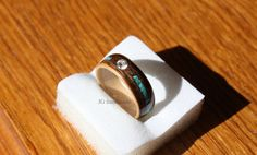 Wooden Engagement Ring Maple and Walnut by HandmadeWoodenRings