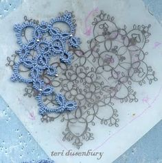 Creating a tatting pattern ... Can I ever reach this stage where I design my own patterns ?!! No harm trying ;-)