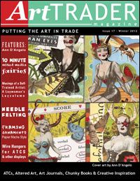 ArtTrader Magazine - Free web based publication (in PDF format) focused on mail art for trade such as ATCs (Artist Trading Cards), ACEOs, art journals, chunky books, altered art and altered art books.