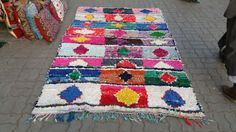 boucherouites moroccan rugs or rugrugs style Beautiful Moroccan Boucherouite Rug handmade by women in their homes in the Atlas Mountain region of