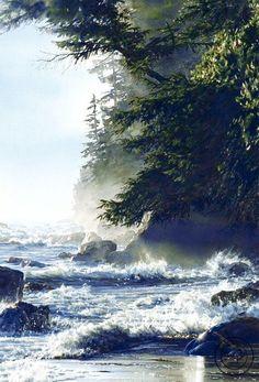 Canadian watercolor artist Carol Evans.