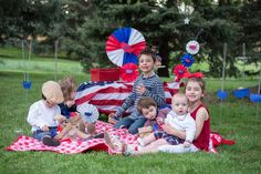 4th of July Picnic with Astrobrights Papers & Silhouette CAMEO/Portrait